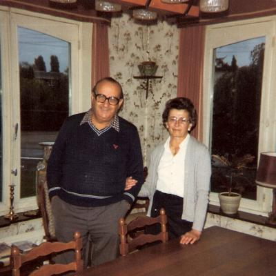 Philippe Ebly (avec son épouse) en 1983